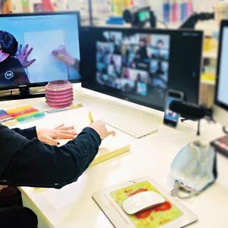 image of teacher instructing virtual class