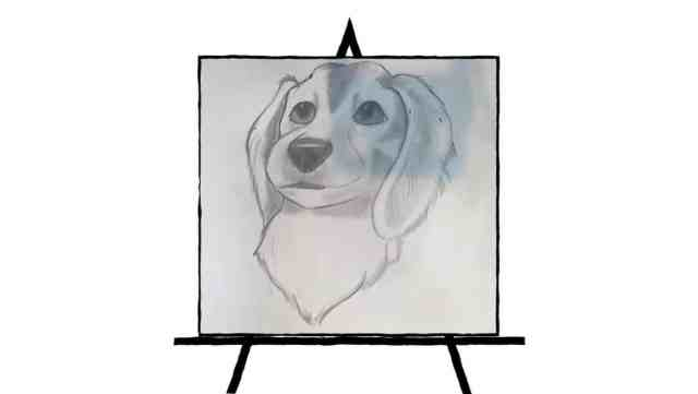 image of dog sketch in pencil