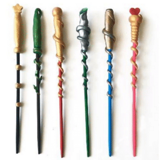 wizard wand clay sculptures