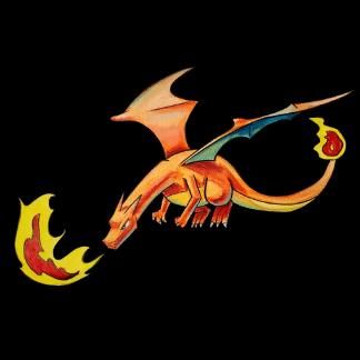 image of an orange dragon