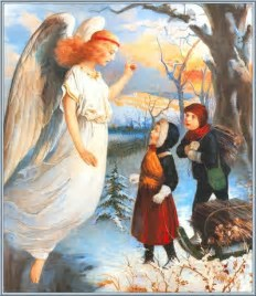 Winter Angel scene