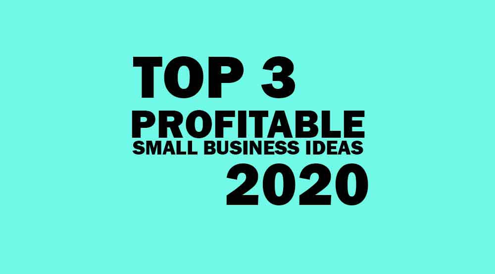 Businesses Ideas For 2020 Top 3 Profitable Small Business Ideas to Start Your Own Business
