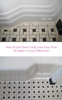 Clean Vintage Bathroom Tiles   Caulk More Cleanly With Painter s Tape how to get clean caulk lines