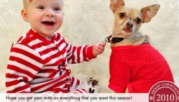 Dog And Baby Christmas Card Ideas