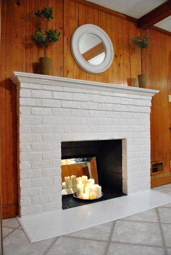Painting A Brick Fireplace Is An Easy Way To Makeover Your Entire Room- Here