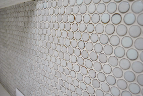 how to grout penny tile
