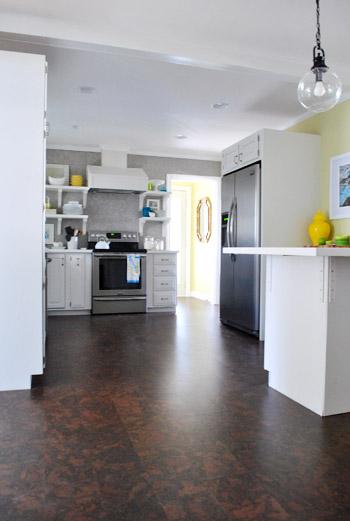 Completing Our Kitchenu0027s Cork Floor Installation