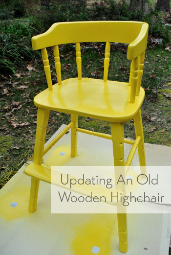 updating-an-old-wooden-highchair