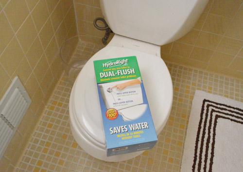 installing a dual flush toilet kit u0026 hiding our shredder