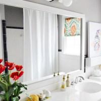How To Build A Wood Frame Around A Bathroom Mirror