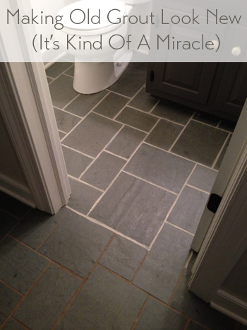 how to make discolored dirty grout between tiles look clean and new