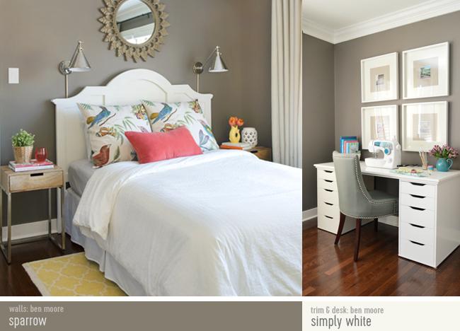 shop guest bedroom benjamin moore sparrow