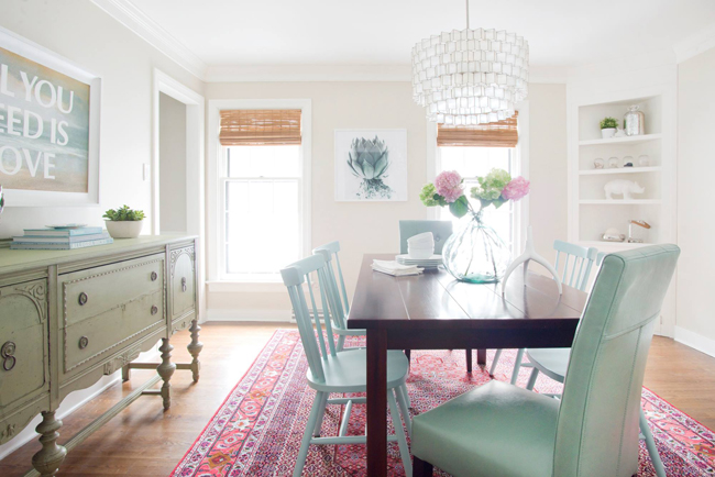 young house love bright modern dining room makeover home decor