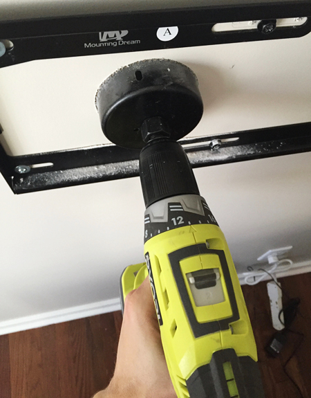 How-To-Hide-TV-Wires-11-Drilling-Wall-Hole