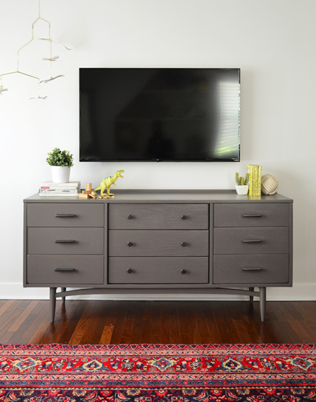 How-To-Hide-TV-Wires-After-No-Cords-Folkstone-by-Sherwin Williams