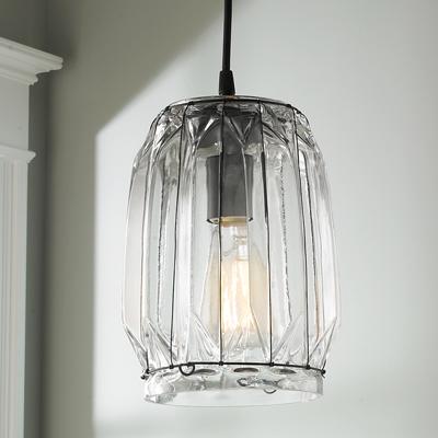 Angular Glass Pendant for Shades of Light