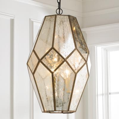 Mercury Glass 3 Light Pendant