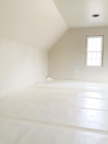 install hardwood flooring underlayment laid