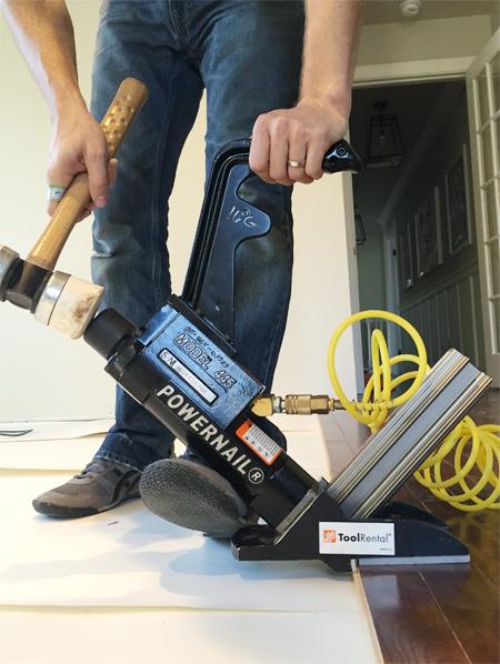 install hardwood flooring floor nailer