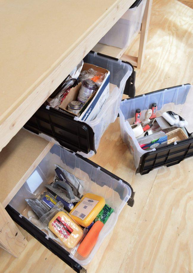 shed storage ideas clear storage bins