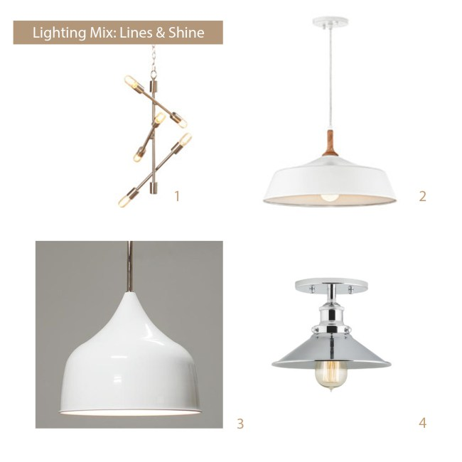 how to select light fixtures linear mood board