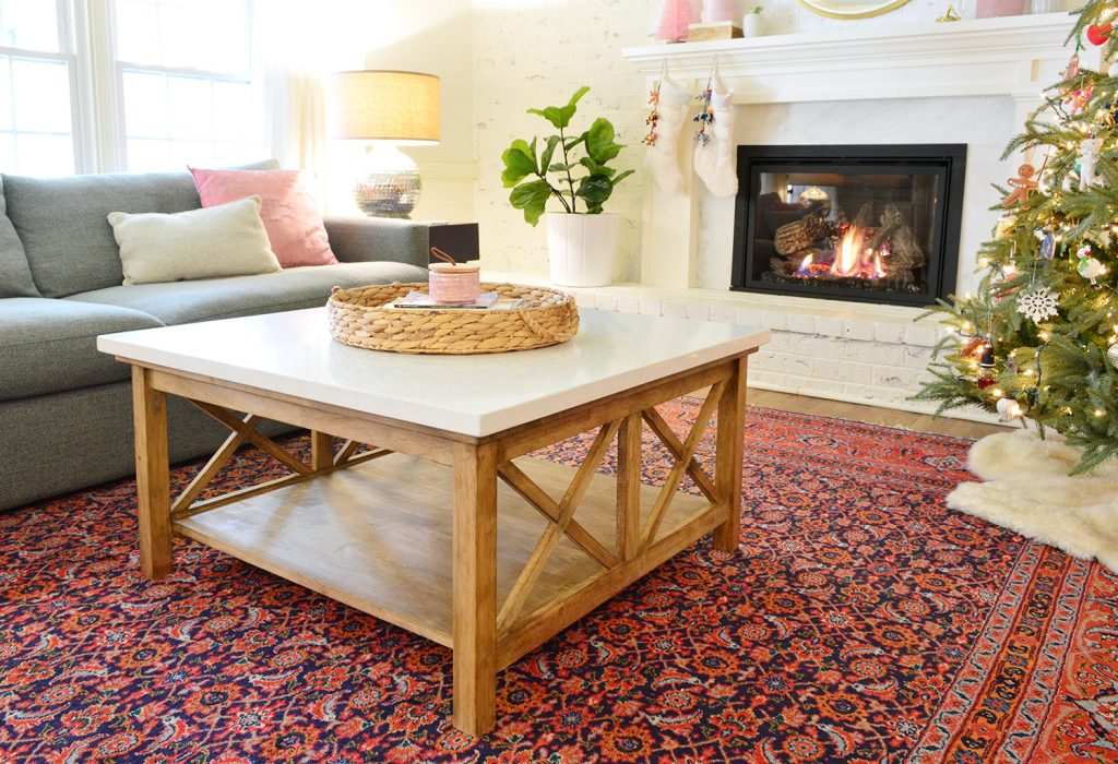 our stone topped coffee table hack