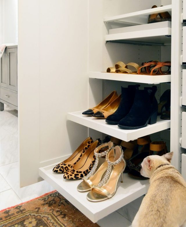 Pull Out Shoe Trays In Ikea Pax Wardrobe With Burger