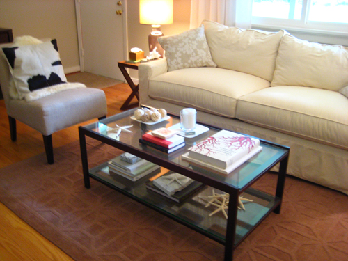 Always One To Spice It Up Around The House, I Wasted No Time Giving Our  Living Roomu0027s $30 Thrift Store Find Of A Coffee Table A Lighter Look For  The Warmer ...