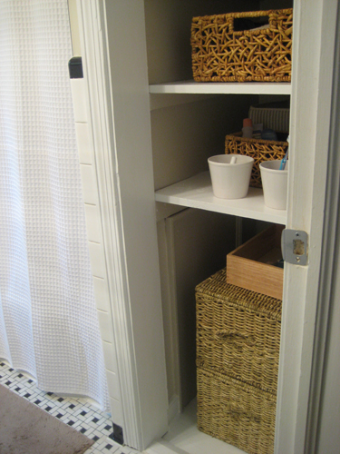 bathroom shelves storage closet organizer hall organizers ideas linen