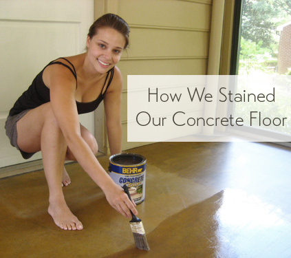 Staining A Concrete Floor Is Easy, Just Follow Our Step By ...