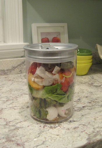 airtight container for collecting compost scraps