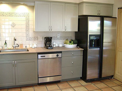 Kitchen desk remodel ideas How To Redo Kitchen Cabinets On A Budget