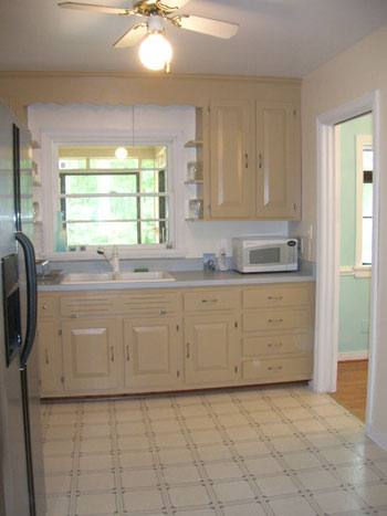 Linoleum Bad how to use peel and stick vinyl tiles to update your kitchen