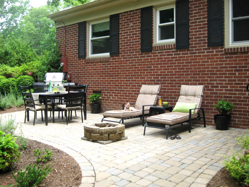Our $319 Patio Makeover (Complete With Loungers & A Fire ... on Economical Patio Ideas  id=36798