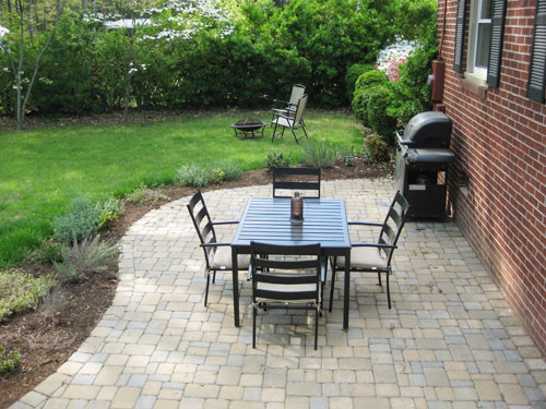 Our $319 Patio Makeover (Complete With Loungers & A Fire ... on Economical Patio Ideas  id=56773
