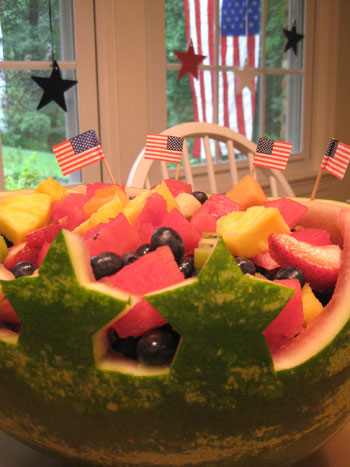 We Made A Fun Little Watermelon Centerpiece For The 4th Of