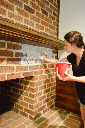 How To Whitewash A Brick Wall Or Fireplace Young House Love
