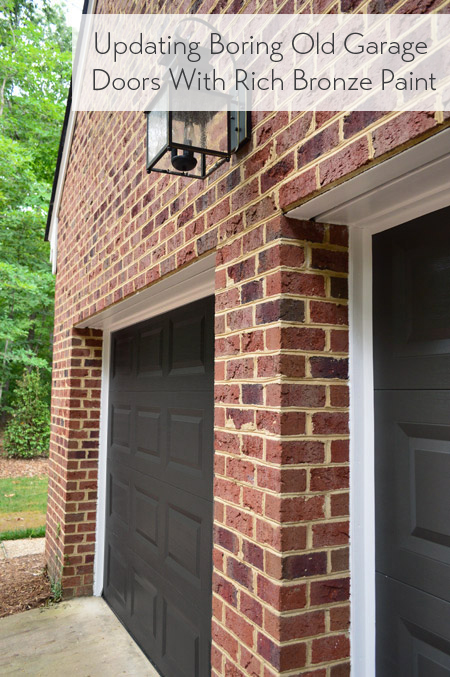Painting Our Garage Doors A Richer, Deeper Color | Young ... on Garage Door Color  id=49075