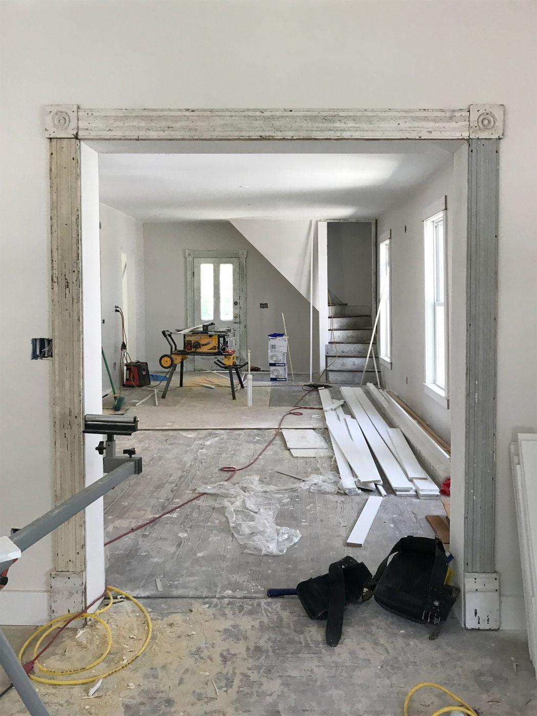 Young House Love Foyer Door : Beach house progress original trim doors and lots of
