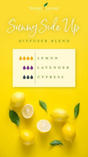 Lemon essential oil diffuser blend