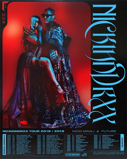 Nicki Minaj & Future Announce Joint Worldwide NickiHndrxx Tour