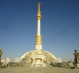 The arch of neutrality located in Ashgabat