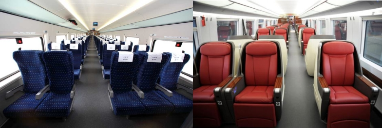first and second class china train