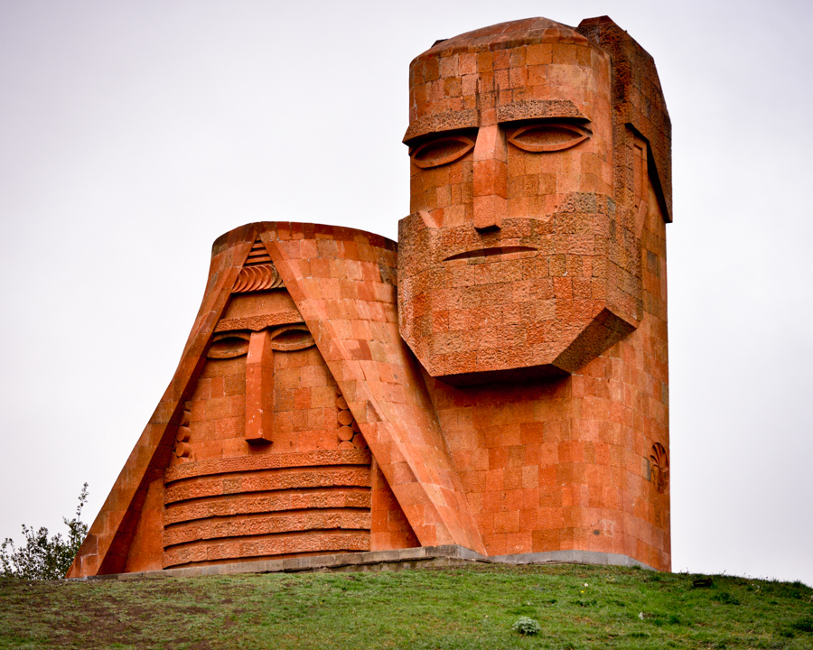 Statue of ethinicities of Nagorno Karabakh also known as Artsakh