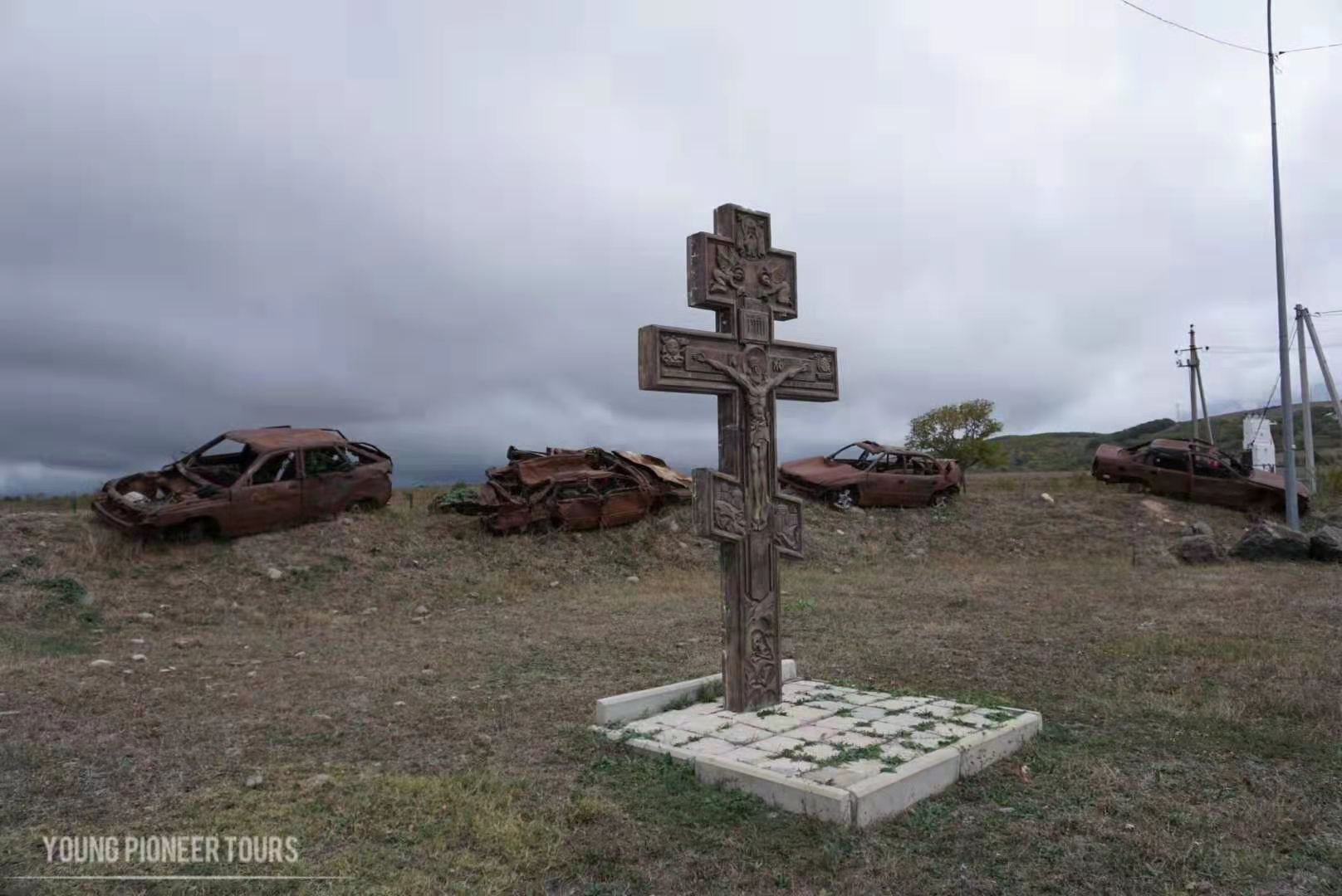 An orthodox cross in South Ossetia