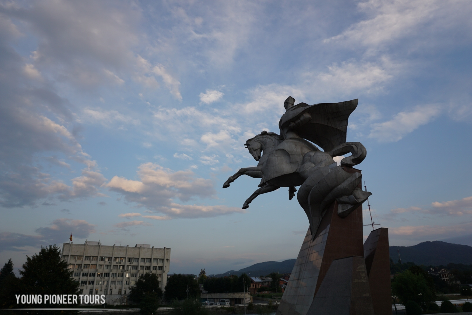 A statue of a horseman found in South Ossetia