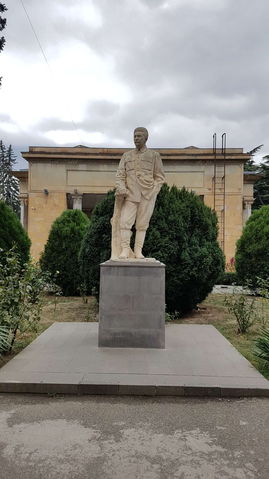 A statue of Stalin in Artsakh