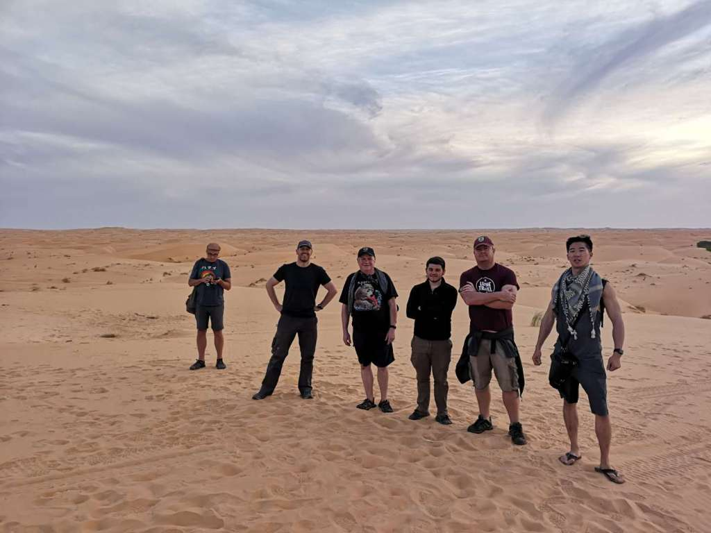 Our group in the middle of the Sahara