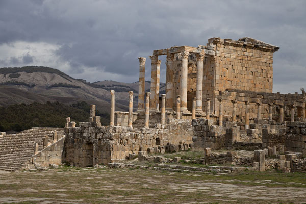 The roman ruins of Djemila in Algeria