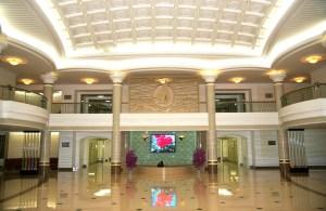 The lobby of Majon Hotel, Hamhung, North Korea